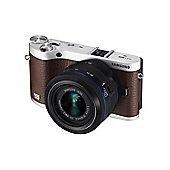 "Samsung NX300 Digital Camera, Brown, 20MP, 3.2"" LCD Screen, Wi-Fi, 20-50mm Lens Kit"
