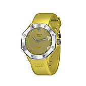 Tresor Paris Watch - ISL - Stainless Steel Bezel & Crystal Dial - Yellow Silicone Strap - 36mm
