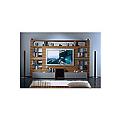 Triskom Metal Wall Entertainment Center TV Stand for LCD / Plasmas - Zebrano/Metal Silver
