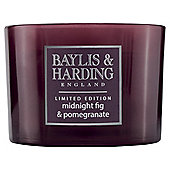 Baylis & Harding Fig & Pomegrante Christmas 3 Wick Candle