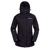 Glacier Extreme Womens Long Waterproof Jacket - Black
