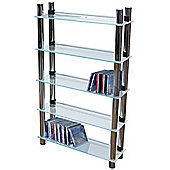 Matrix - 5 Tier Dvd Blu-ray / Cd / Media Storage Shelves