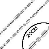 Urban Male Stainless Steel 3mm Military Ball Link Chain 18in Long