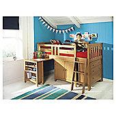 Harvey Sleep Station Right Hand Ladder, Natural Pine/Oak Stain