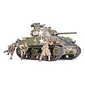 U.S. Medium Tank M4A3 Sherman 75mm Gun Late - 1:35 Scale Military - Tamiya