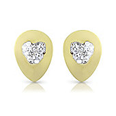 9ct Yellow Gold Crystal-set Studs Earring