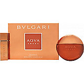Bvlgari Aqva Amara Gift Set 100ml EDT + 15ml EDT For Men