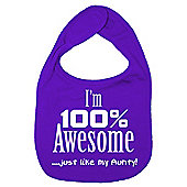 Dirty Fingers I'm 100% awesome just like my Aunty Bib Purple