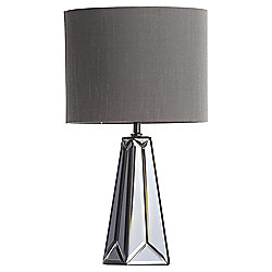 Gatsby Mirror Glass Table Lamp, Pewter