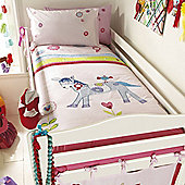Izziwotnot Ribbons and RoSettes Single Duvet Cover and Pillowcase Set