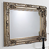 Gallery Carved Louis Mirror - Silver