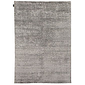 Angelo Silky Dark Gray Knotted Rug - 240cm H x 170cm W (7 ft 10.5 in x 5 ft 7 in)