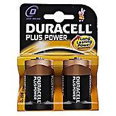 Duracell D LR20 Plus Power Batteries (Pack of 2)