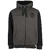 Kooga Barbarians Rugby Crest Zip Trough Hoody 2016 - Grey