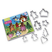 Cooksmart Kids 8 Piece Fairy Tale Cookie Cutter Set