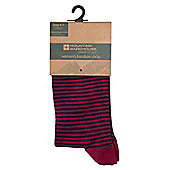 Mountain Warehouse Bamboo Womens Liner Socks - 2 Pk - Red