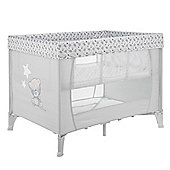 Obaby Tiny Tatty Teddy Tiny Travel Cot in Grey