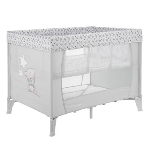 Obaby Naptime Bassinette Travel Cot -  Tiny Tatty Teddy Grey