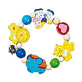 Heimess 735690 Wooden Elasticated Touch Ring Rattle (Circus)