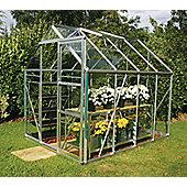 Europa Manor Regent Greenhouse – 6 x 8 - Natural Aluminium Finish – Toughened Glass