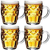 VonShef 4 Beer Mugs / Tankard Stein Glasses