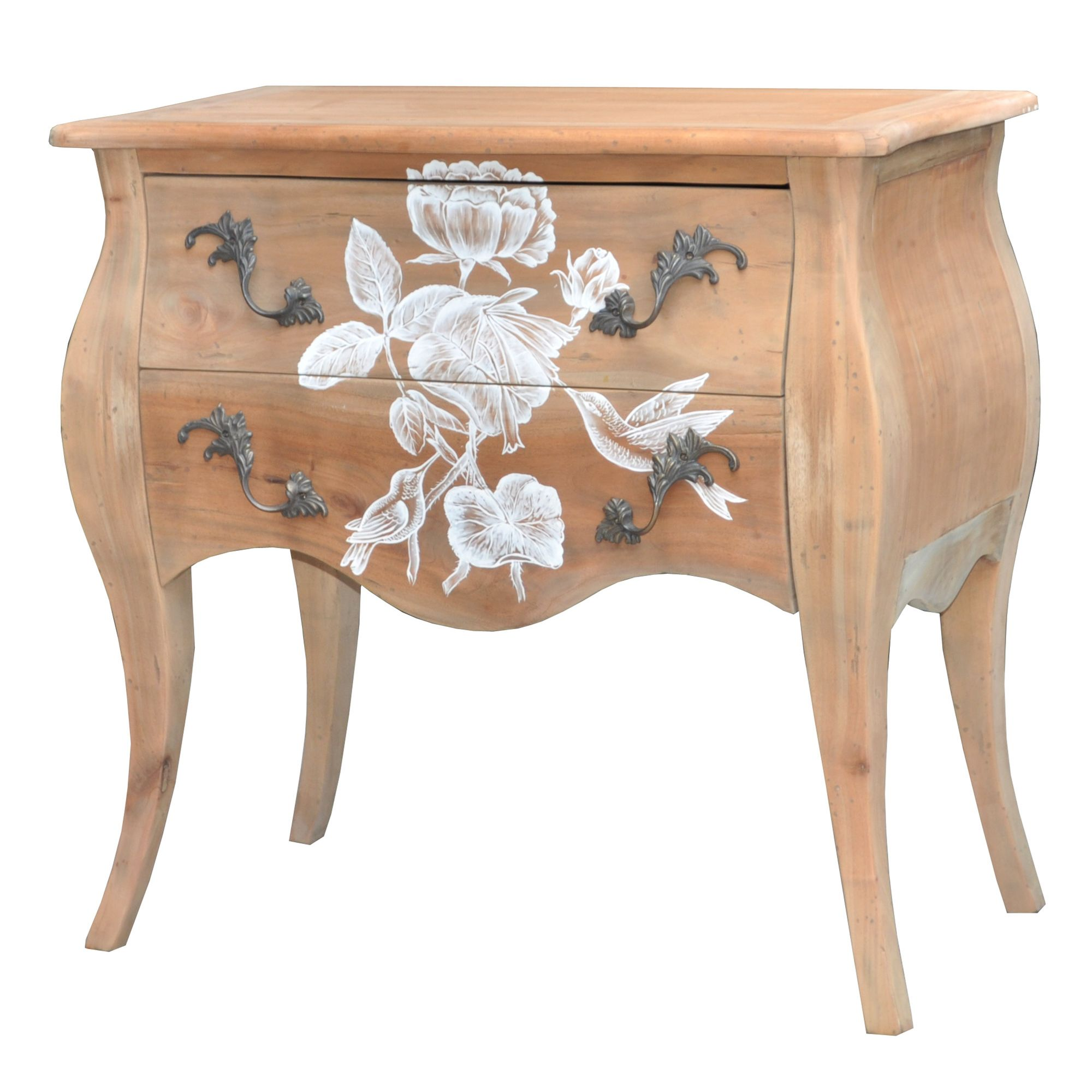 Lock stock and barrel Shell Valbonne Bedside Cabinet at Tesco Direct