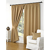 Willow Ready Made Curtains Pair, 46 x 54 Gold Colour, Modern Designer Look Pencil pleated curtains