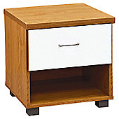 Home Zone Aston 1 Drawer Bedside Table