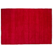 Plain Dye Wool Rug 80x150 Red