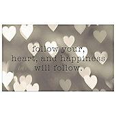 Follow Your Heart Canvas 60x37cm