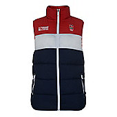 England Rugby Puffer Gilet - Blue