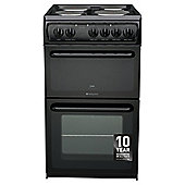 Hotpoint First Edition Electric Cooker, HW170EKS, Black