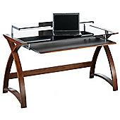 Jual Curve - Curved Walnut and Black Desk