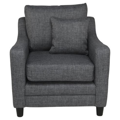 Buckingham Fabric Armchair Sofa Charcoal