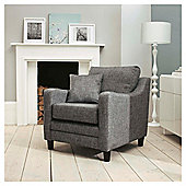 Buckingham Fabric Armchair Sofa Charcoal
