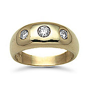 Jewelco London 9 Carat Yellow Gold 50pts Diamond Ring