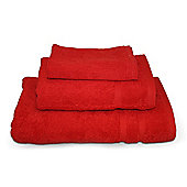 Red 3 Piece 450gsm Turkish Towel Bale