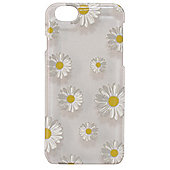 Tortoise Hard Protective Case,iPhone 6, Clear with Daisy Print.