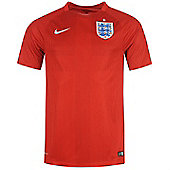 2014-15 England Away World Cup Football Shirt - Red