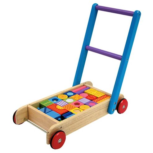 I'M Toy Pattern Block Walker, wooden toy