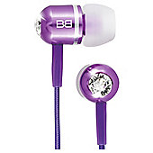 BassBuds In-Ear Headphones w/mic Purple