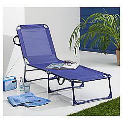 Folding Lounger Navy