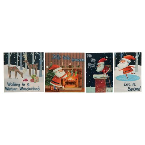 Tesco Santa & Co Christmas Cards, 20 Pack