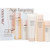 Shiseido Benefiance WrinkleResist24 1-2-3 Kit 100ml Balancing Softener Enriched + 75ml Extra Creamy Cleansing Foam + 30ml Day Emulsion SPF18