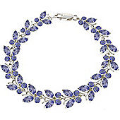 QP Jewellers 7.5in 7.80ct Tanzanite Butterfly Bracelet in 14K White Gold