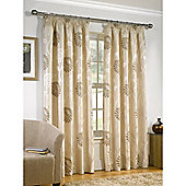 Leanne Lined Pencil Pleat Natural Curtains - 90x72 Inches