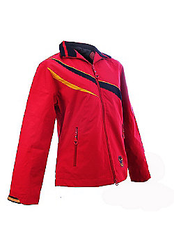 Ladies Bradford Bulls Rugby League Official Jacket by North Gear - Red