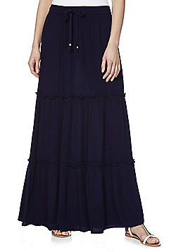 F&F Tiered Maxi Skirt - Navy