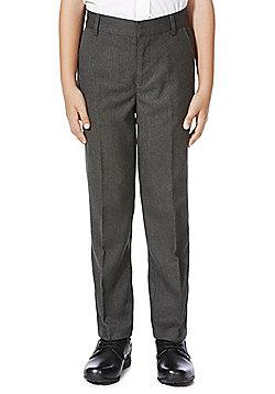 F&F School Boys Flat Front Trousers - Grey