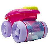 Mega Bloks First Builders Block Scooping Wagon Building Set, Pink